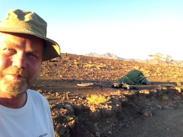 kamperen bij wadi